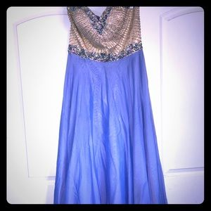 periwinkle Sherri Hill prom dress only worn once